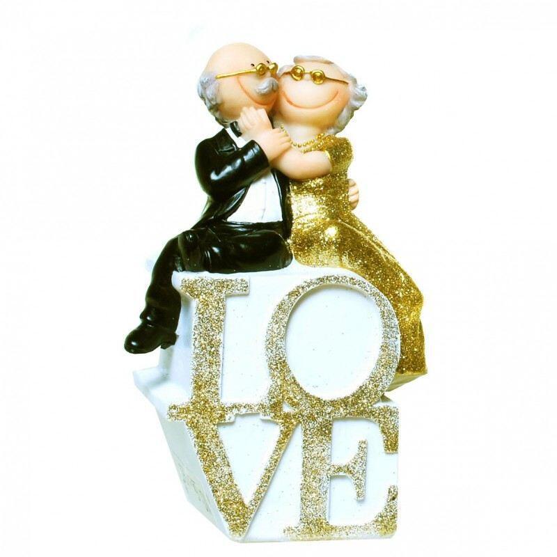 Spardose Goldhochzeit Love Brautpaar Geschenk Goldene Hochzeit