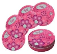 Untersetzer Tussi on Tour, 4-teiliges Untersetzer-Set in Pink, Coaster - Set aus Metall, Bierdeckel