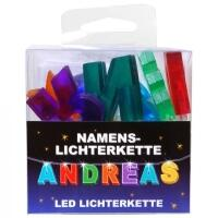 LED Namens-Lichterkette ANDREAS Lichterkette Name Deko innen