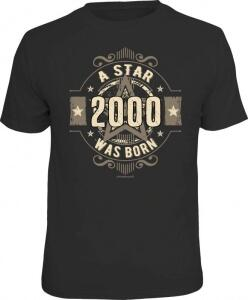 T-Shirt A STAR WAS BORN 2000 Jahrgang