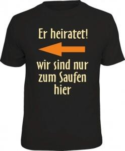 T-Shirt er heiratet! links