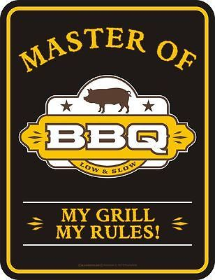 Blechschild MASTER OF Barbecue