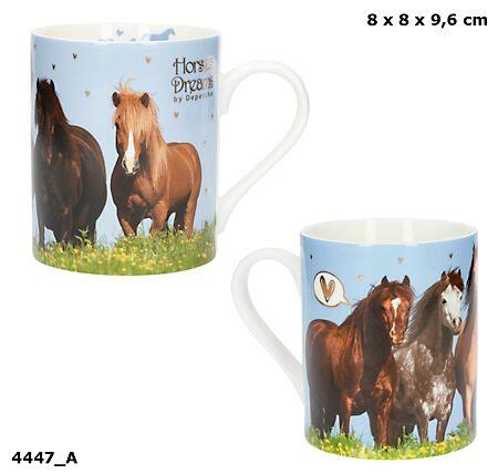 Becher Horses Dreams mit Golddruck