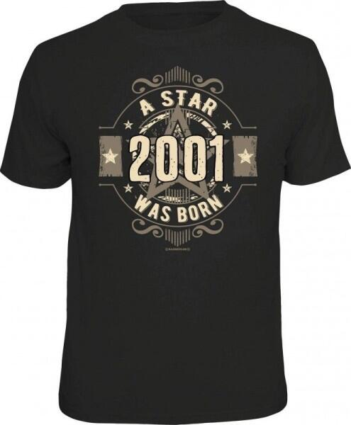 T-Shirt A STAR WAS BORN 2001 Jahrgang