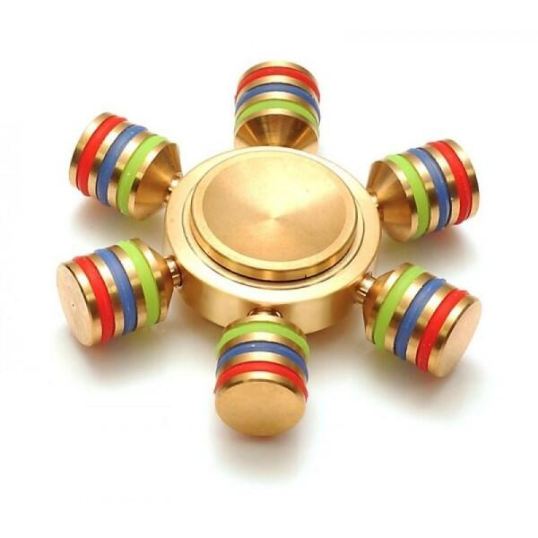 Fidget Finger Spinner Messing 6-Arm